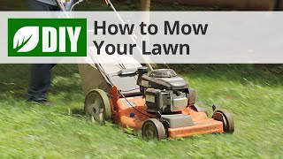 How to Mow a Lawn - Lawn Mowing Tips