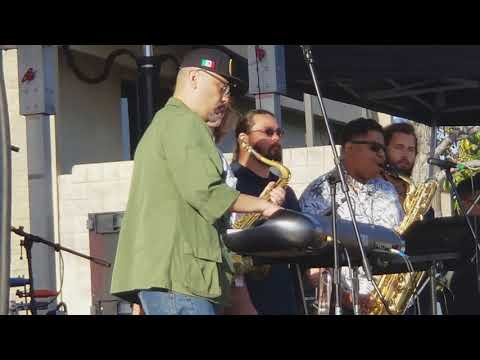 Mexico 68 Afrobeat Orchestra at The 10th Annual South Pasadena Eclectic Music Festival.