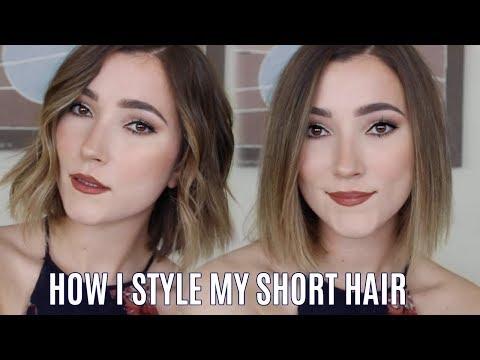 how-i-style-my-short-hair- -beach-waves-and-sleek-straight-tutorial