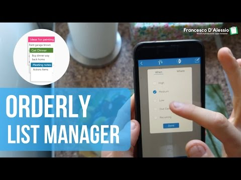 Orderly: List Manager app review
