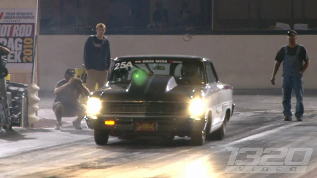 FASTEST STREET CAR IN THE WORLD! Larry Larson runs 6 95 @ 209 on Drag  Week!!!