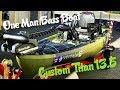 ONE MAN BASS BOAT: Custom Native Titan 13.5