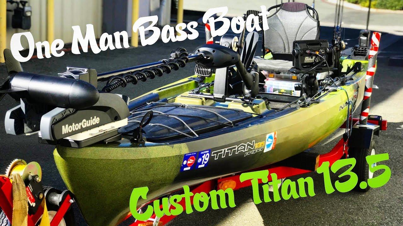 ONE MAN BASS BOAT: Custom Native Titan 13 5