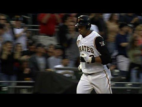 FLA@PIT: Jose Bautista hits his first career home run