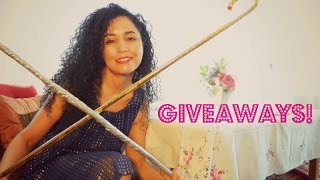 Belly dance giveaway: 2 gold Saidi canes [CLOSED]