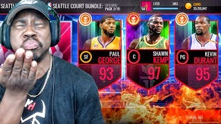 INSANE SEATTLE PACK OPENING & 97 OVR SHAWN KEMP! NBA Live Mobile Gameplay Ep. 144