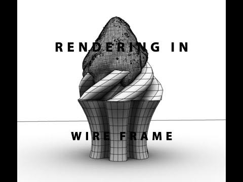 Rendering Wire Frame Maya 2016