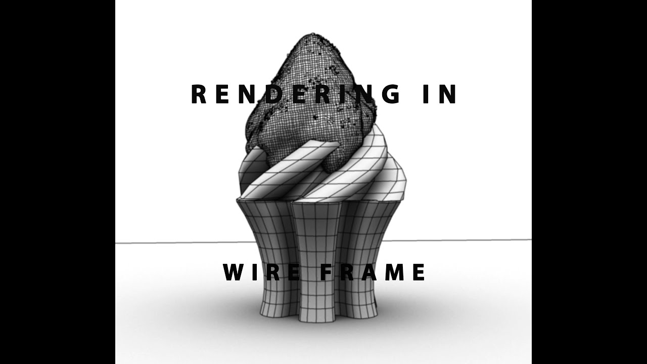 Rendering Wire Frame Maya 2016 - YouTube