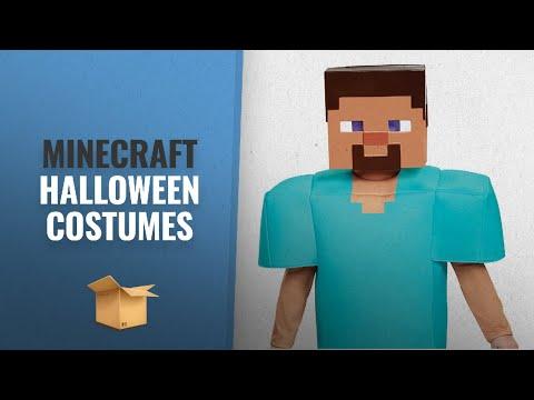 Top 10 Minecraft Halloween Costumes For Kids: Steve Deluxe Minecraft Costume, Multicolor, Medium