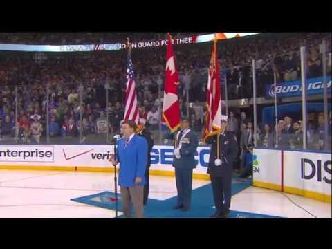 John Amirante Sings Anthems  Game #6 ECF  Montreal Vs New York  May 29th 2014  HD