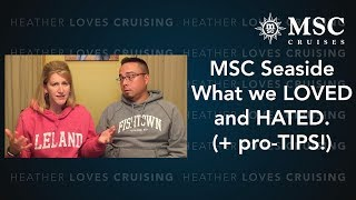 Do NOT cruise on the MSC Seaside without watching this first! (You'...