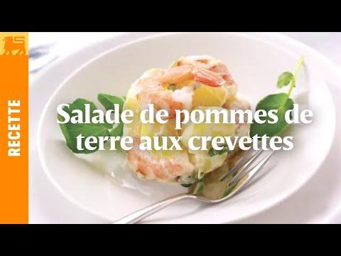 Salade de pommes de terre nouvelles aux crevettes