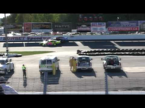 Sunset Speedway Late Model Heat 3 2016 09 24