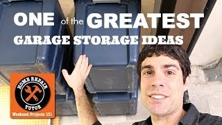 One of the Greatest Garage Storage Ideas -- by Home Repair Tutor