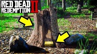 SECRET GOLDEN TREE FILLED WITH CASH in Red Dead Online! RDR2 Online Money!