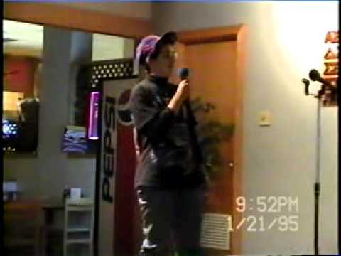 Karaoke at Longwood College Lancer Cafe, January 21, 1995
