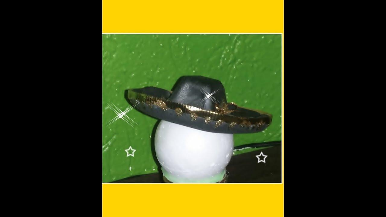 DIY COMO HACER SOMBRERO CHARRO FOAMY FOFUCHO - YouTube 80f722b5a90