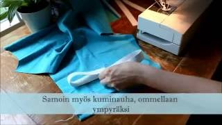 Kuinka housut / leggingsit ommellaan /HOW TO SEW PANTS OR LEGGINGS