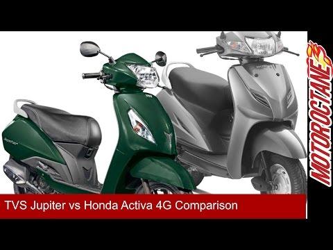 Honda Activa 4G vs TVS Jupiter 2017 - हिन्दी में