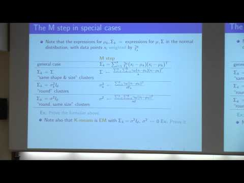 [PURDUE MLSS] Classic and Modern Data Clustering by Marina Meilă (Part 2/8)