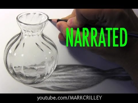 How To Draw Glass Narrated Step By Step Youtube
