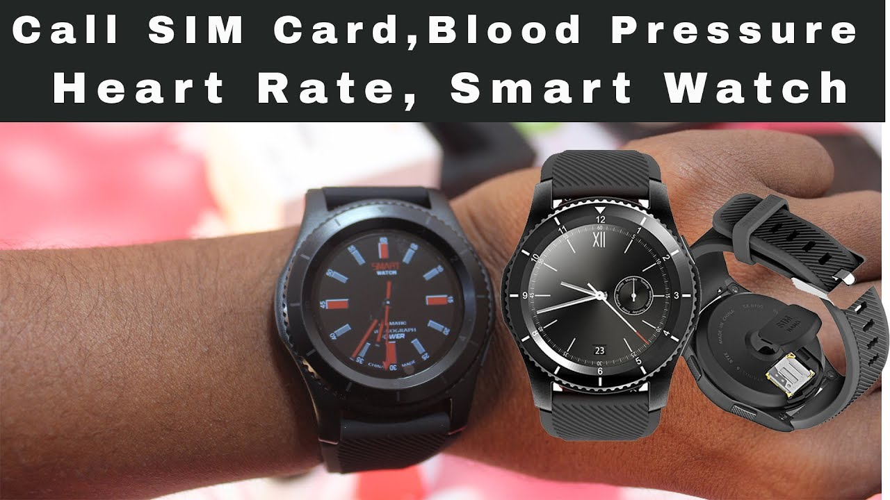 NO 1 Blood Pressure, Heart Rate Monitor, Call SIM Card Smart Watch - A Real  Smart Watch