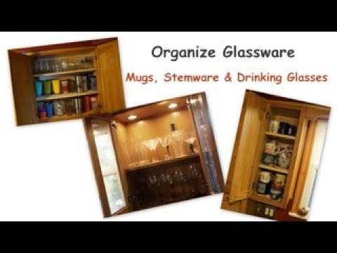 How to Organize Glassware |  Organizing Mugs, Wine Glasses & Everyday Glasses