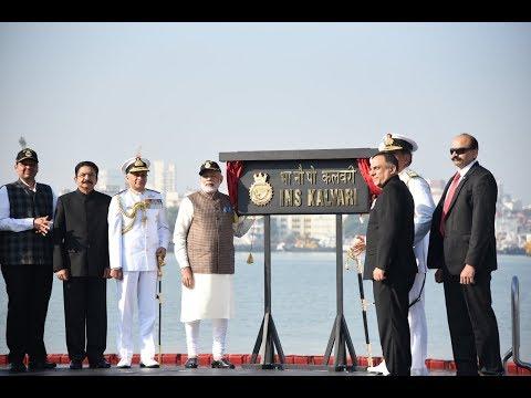PM Modi dedicates naval submarine INS Kalvari to the Nation at Mumbai