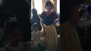 Meet and greet Snow White at Cinderella's Royal Table at Magic Kingdom in Disney World in Nov 2018