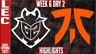 G2 vs FNC Highlights | LEC Spring 2021 W6D2 | G2 Esports vs Fnatic
