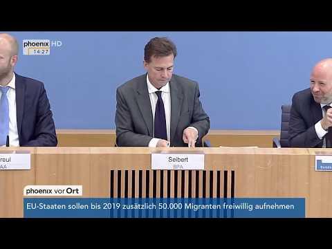 Regierungspressekonferenz mit u.  a. Steffen Seibert
