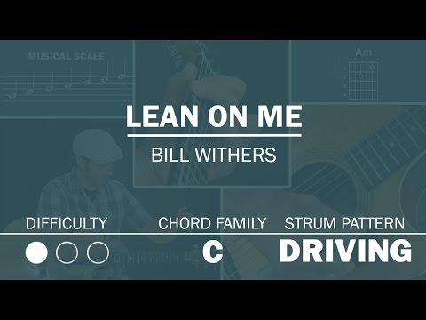Lean On Me (Bill Withers) | Beginner Guitar Lesson
