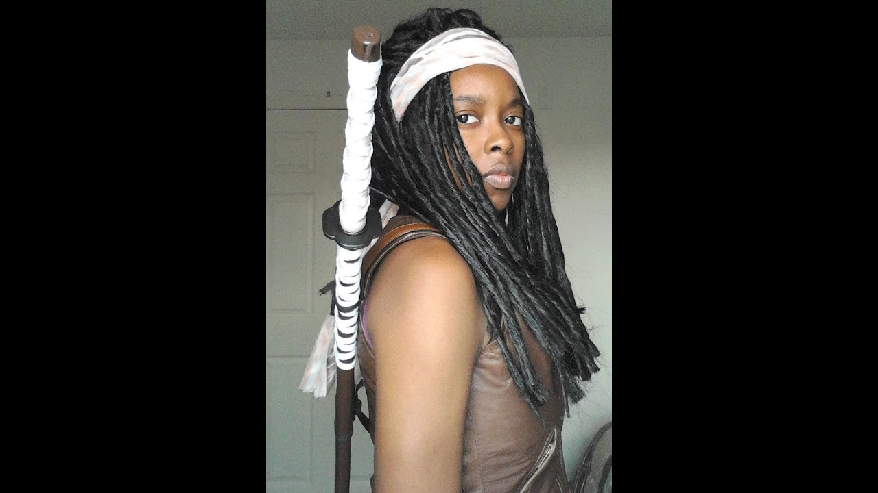 sc 1 st  YouTube & How to Cosplay as Michonne Pt 1 WIG - YouTube