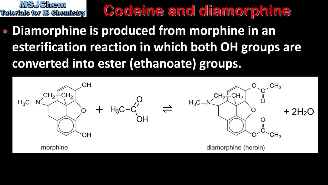 Image result for from morphine to morphine chemical reaction