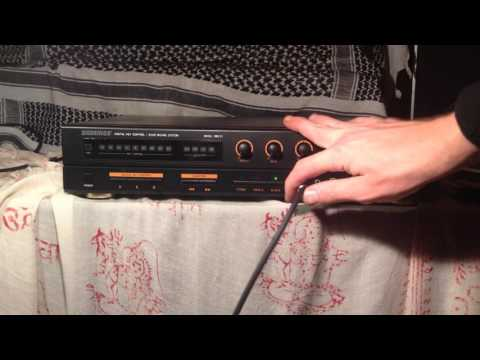 Oakridge 888 II echo karaoke mixer demo hacked circuit bent