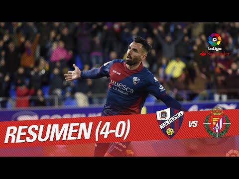 Resumen de SD Huesca vs Real Valladolid (4-0)