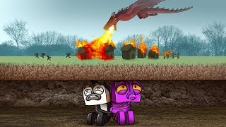 Minecraft Dragons - WILD DRAGON BURNS VILLAGE!