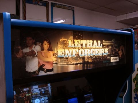 Konami's Lethal Enforcers Arcade Game from 1992 - Overview, Artwork, Gameplay Video!