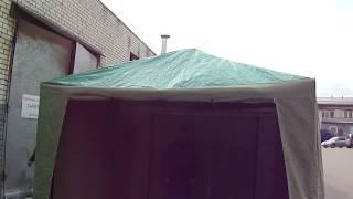 видео Палатка сварщика для работы в дождь