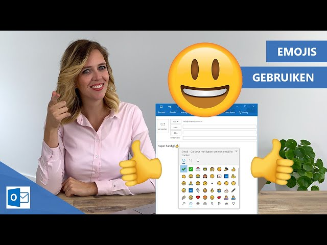 Smileys in email gebruiken Outlook | 😀 👍 of  :)