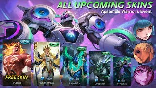 MOBILE LEGENDS ALL UPCOMING SKIN - AUGUST STARLIGHT SKIN 2019 - NEW EVENT MLBB