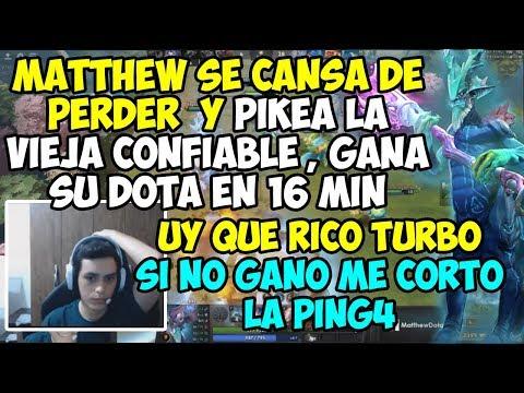 MATTHEW SE CANSA DE PERDER Y PIKEA LA VIEJA CONFIABLE, GANA SU DOTA EN 16MIN | UY QUE RICO TURBO