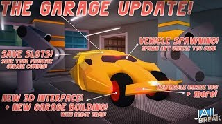 Trial Jailbreak New Garage | Roblox