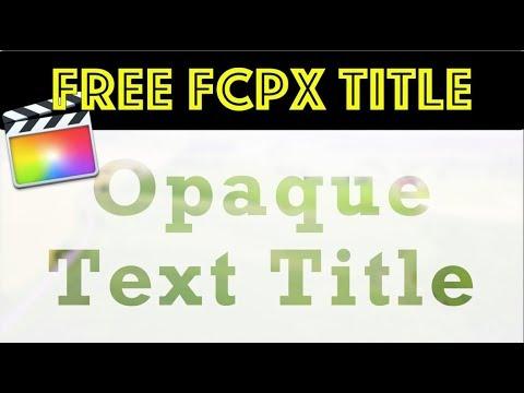 FCPX Freebies