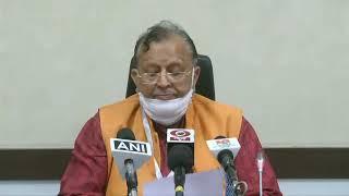 वित्त, संसदीय कार्य एवं  चिकित्सा शिक्षा विभाग मंत्री श्री सुरेश खन्ना जी की प्रेसवार्ता...