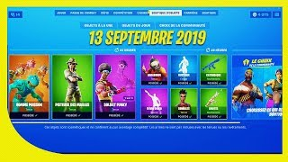 "FORTNITE BOUTIQUE of September 13, 2019! Return of the ""fish man"" skin"