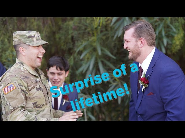 Best Man Who Was Supposed to Be Deployed Surprises Best Friend on Wedding Day