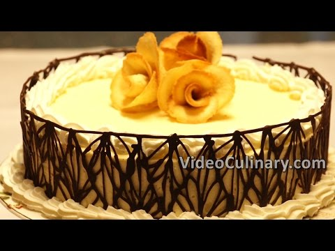 White Bavarian Cream Cake Recipe - Video Culinary