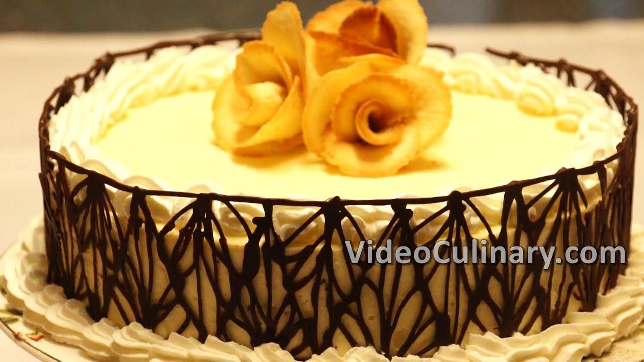 White Bavarian Cream Cake Recipe Video Culinary Youtube