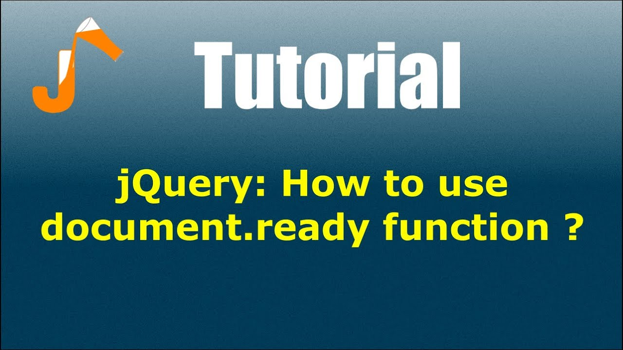 jQuery: How to use document ready function ?